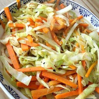 Easy Garlic Cabbage and Carrots