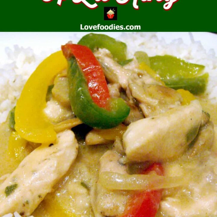 Chicken A La King. A wonderful creamy chicken dinner with flavors out of this world! The chicken is lovely and tender, and together with the peppers and mushrooms in a wonderful cream sauce, this is perfect served with rice or pasta. Really tasty!