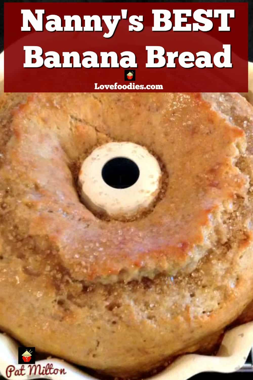 Nanny's BEST Banana Bread is a lovely soft, moist cake and absolutely delicious with the glaze poured over! A nice, easy recipe and freezer friendly too!