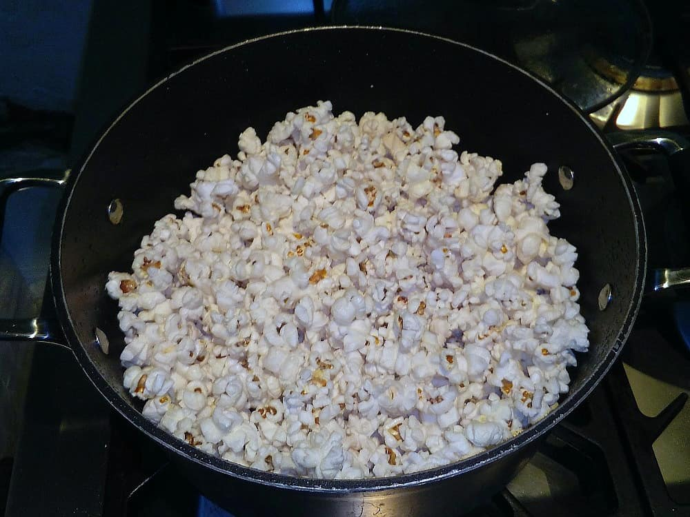 Salted Caramel Cashew Nut Popcorn, a delicious snack and all made from scratch!