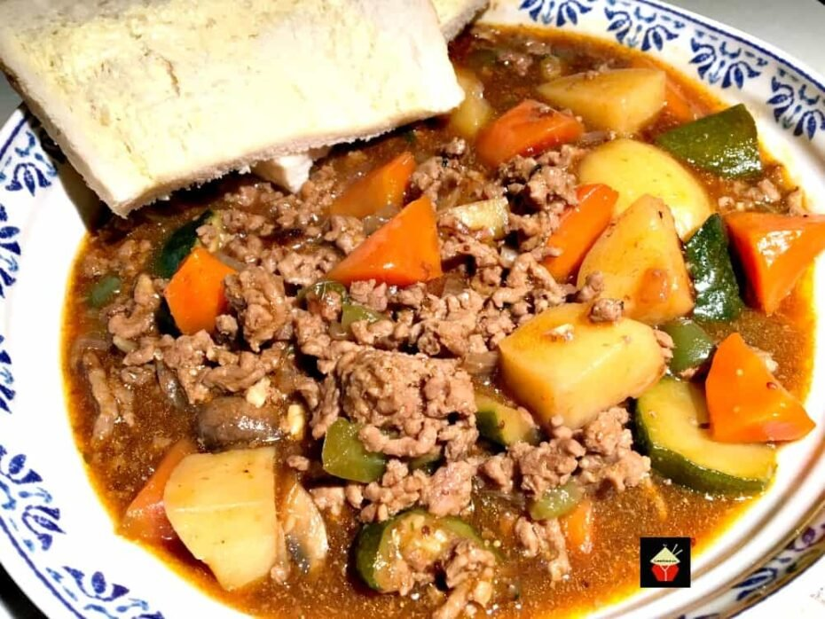 Poor Man's Stew. A really easy made from scratch recipe, budget friendly. Packed full of flavor and a great family dinner.
