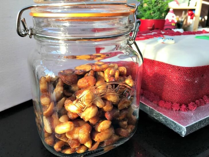 Honey Roasted Nuts, a deliciously easy snack, perfect for parties and gifts too! Seasoned with honey and cinnamon with a pinch of salt for a great taste