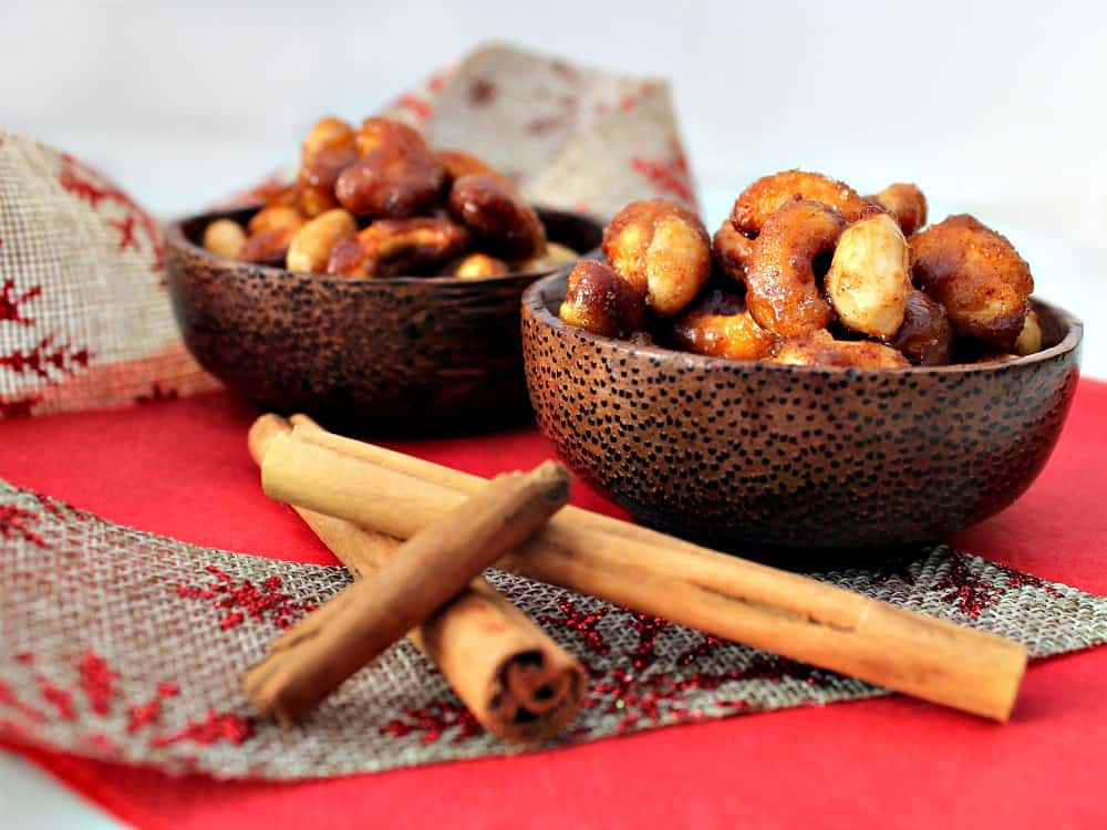 Honey Roasted Nuts, a delicious easy snack, perfect for parties and gifts too! Seasoned with honey and cinnamon and a pinch of salt.