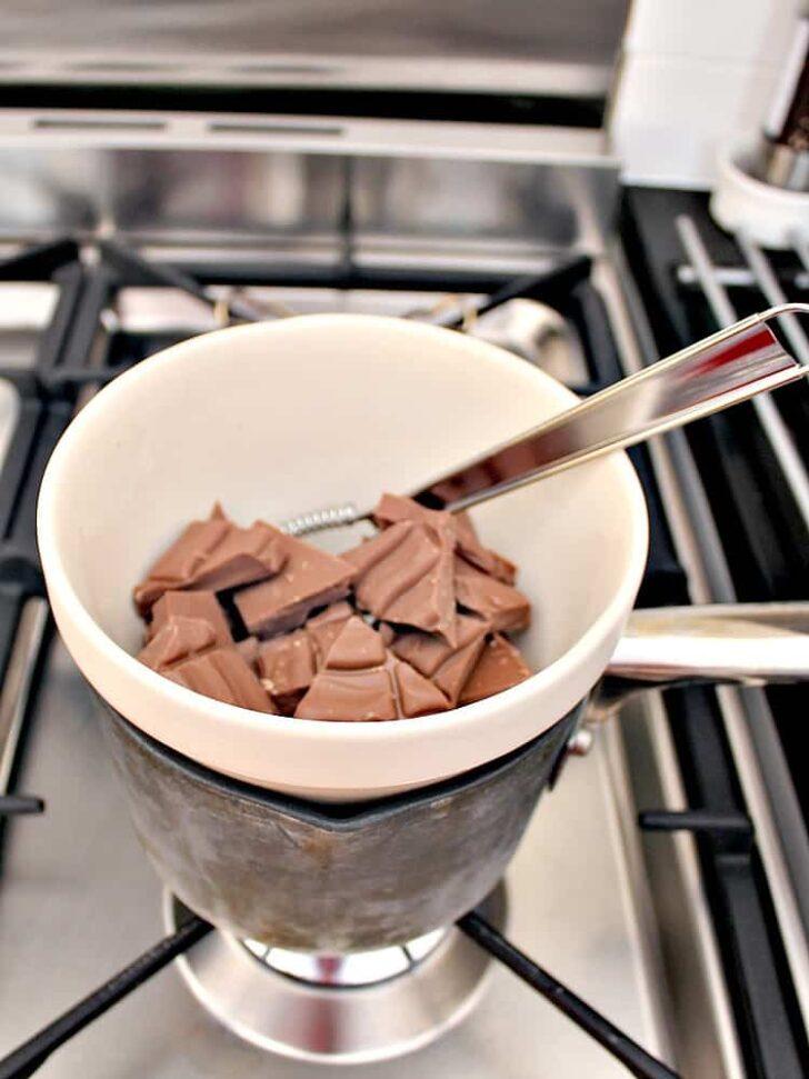 Irish Cream Chocolate Bark, melting chocolate