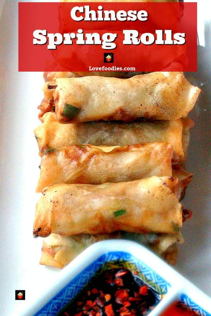 Chinese Spring Rolls - Great authentic taste and easy to follow instructions. Suggestions for chicken, vegetarian or pork fillings. You choose!