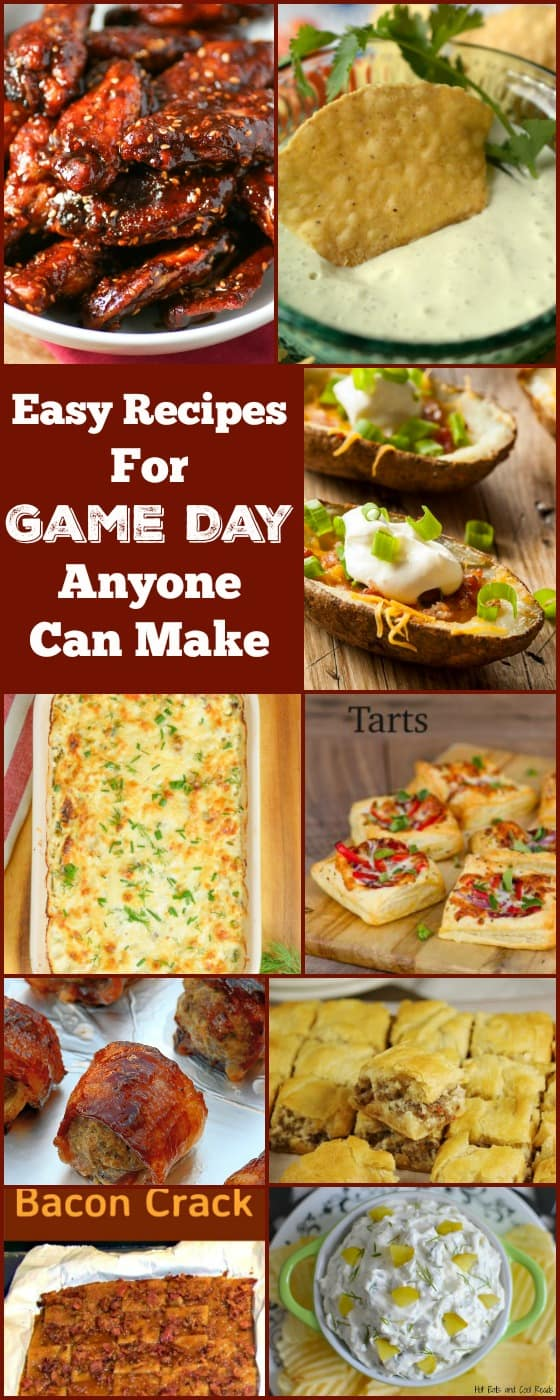 Easy Recipes For Game Day Anyone Can Make are amazingly delicious and really popular! A variety of snacks, sweet and savory and perfect for parties too!