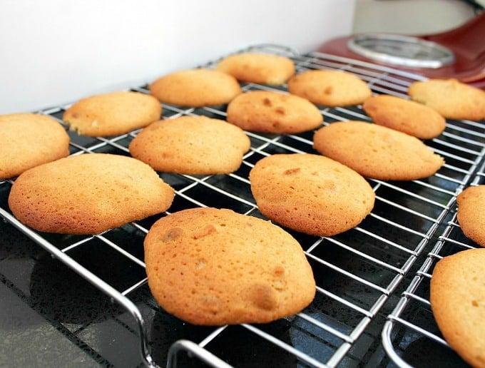 Grandma's War Time Peanut Drop Cookies on cooling rack