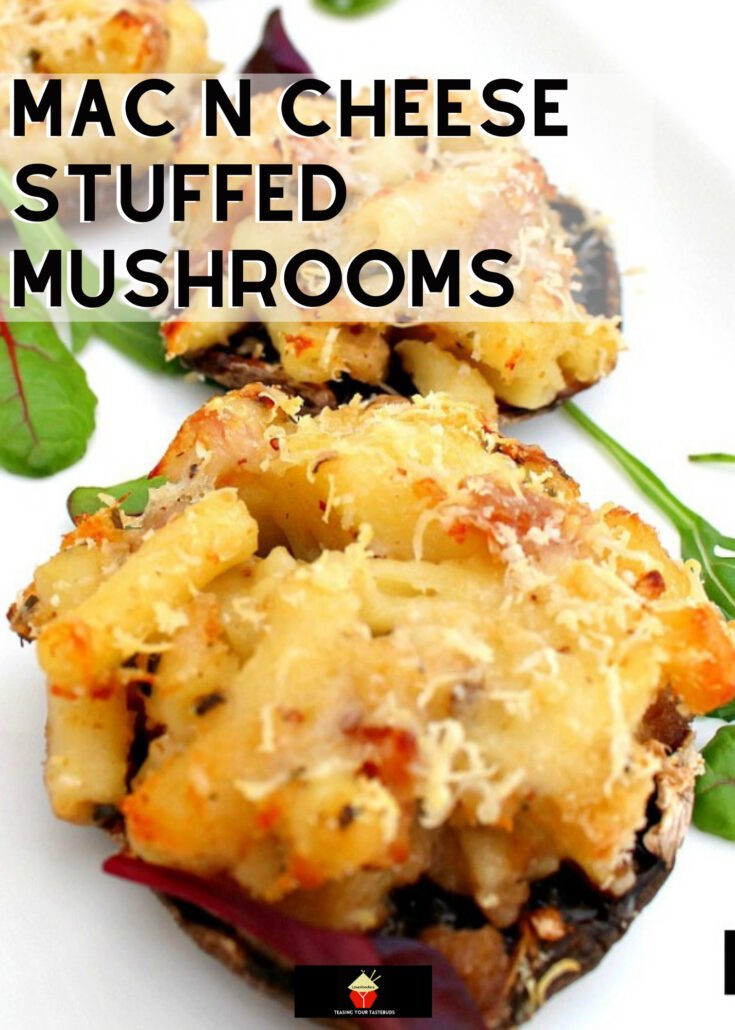 Mac N Cheese Stuffed MushroomsH