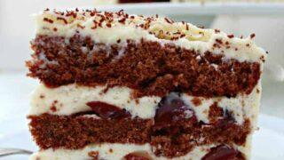 Authentic German Black Forest Cake, Schwarzwalder Kirschtorte