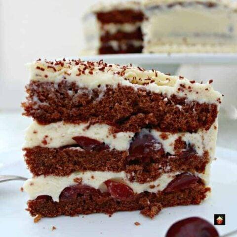 Authentic German Black Forest Cake Schwarzwalder Kirschtorte A