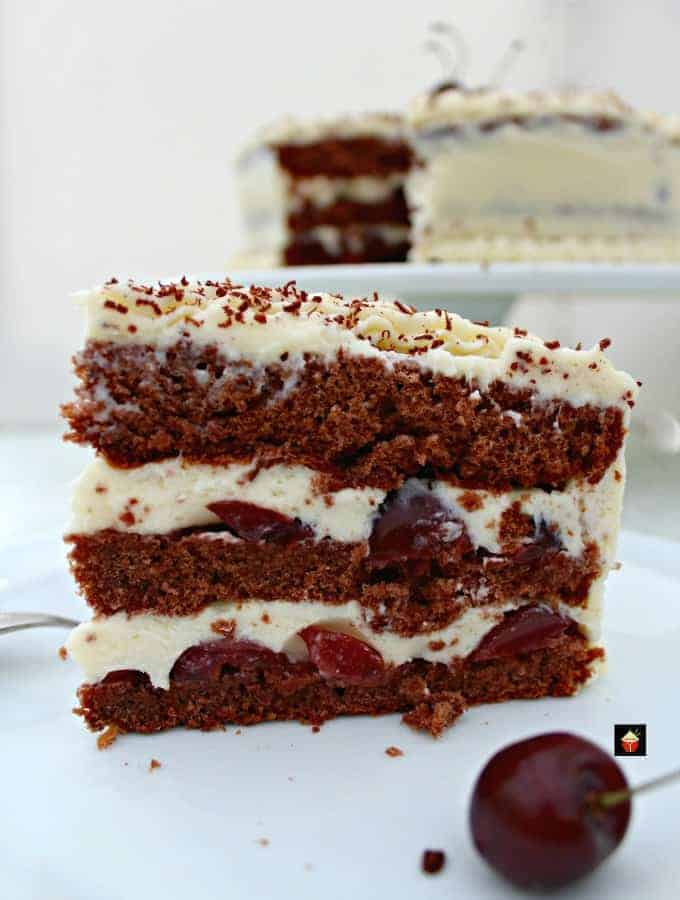 Authentic German Black Forest Cake, Schwarzwalder Kirschtorte