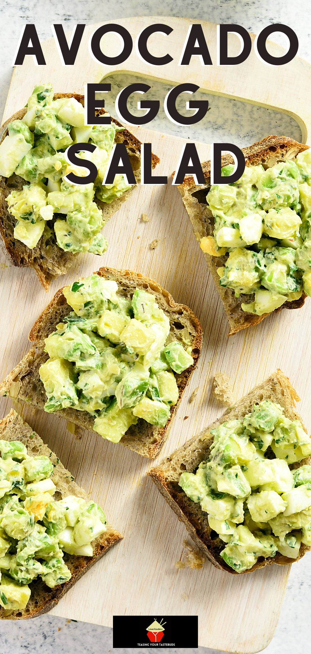 Avocado Egg Salad is a wonderfully easy recipe and very quick to make. Serve as a salad in a bowl or with some crusty bread warm from the oven. Delicious! Great for brunch, lunch or supper or party food!