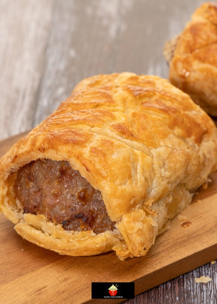 Easy Sausage Pufs, deliciously seasoned sausage meat wrapped in crispy puff pastry and baked. Easy recipe, great for parties, lunch boxes, picnics. Eat warm or cold, they're so tasty!