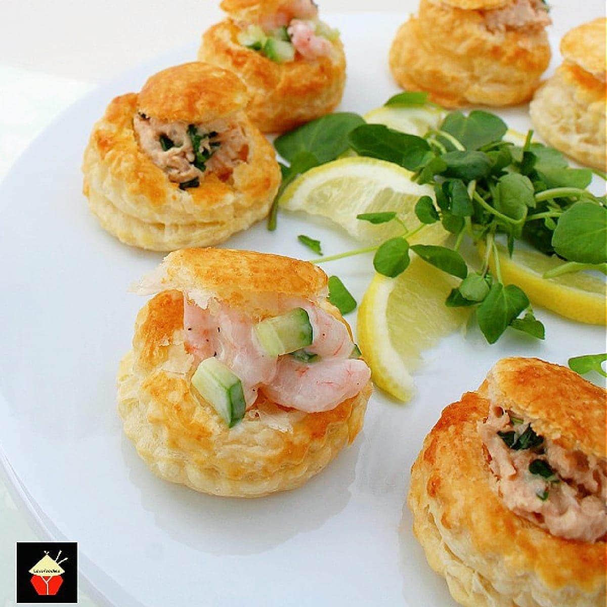 Delicious Shrimp or Salmon Vol Au VentsF