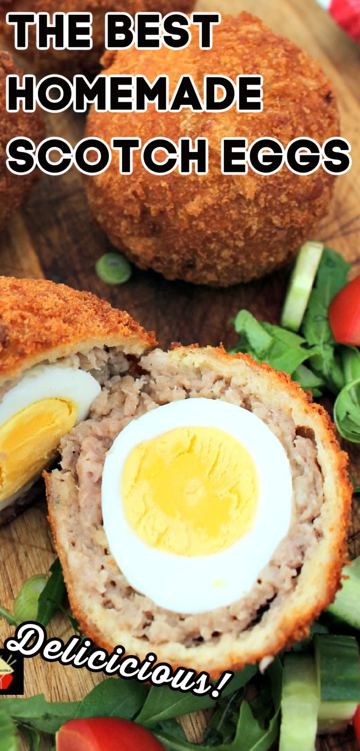 The Best Homemade Scotch Eggs. A popular British snack, perfect for a picnic, breakfast, or any occasion. Delicious eggs wrapped in sausage meat and coated in crispy breadcrumbs.