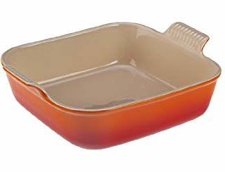 "Le Creuset Heritage Stoneware 8"" Square  Dish, Flame"