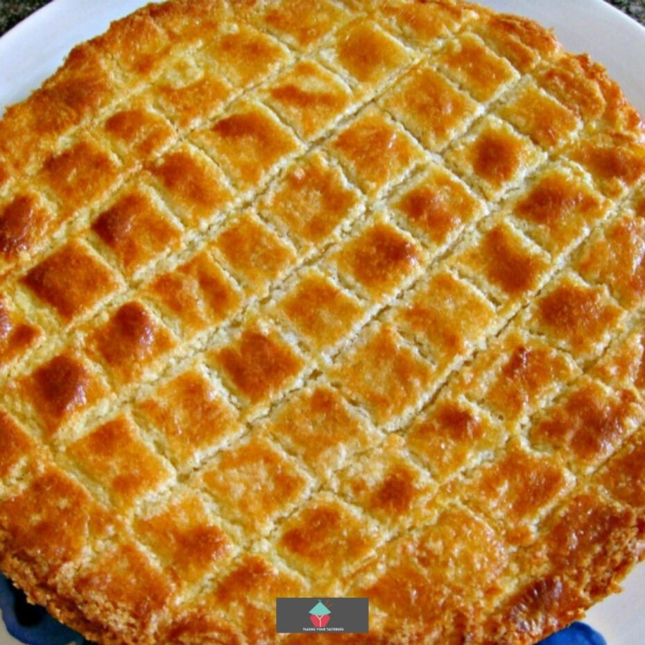 Dutch Buttercake (Boterkoek). This is a moist, soft butter cake, famous in the Netherlands. Often served with a cup of coffee. Easy to make and very popular!