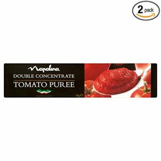 Napolina Tomato Puree Tube - 142g - Pack of 2 (142g x 2 Tubes)