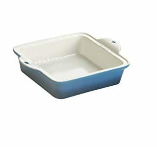 "Lodge STW8SQ33 Stoneware Baking Dish, 8"" x 8"", Blue"
