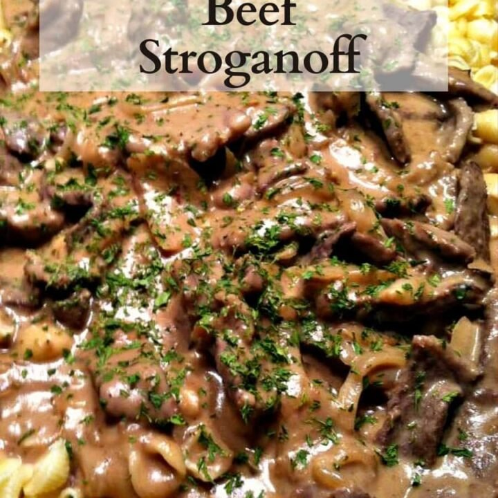 Beef Stroganoff. Quick and Easy dinner with a great sauce! Always a hit with the family and a really tasty recipe. Great served with pasta or rice.