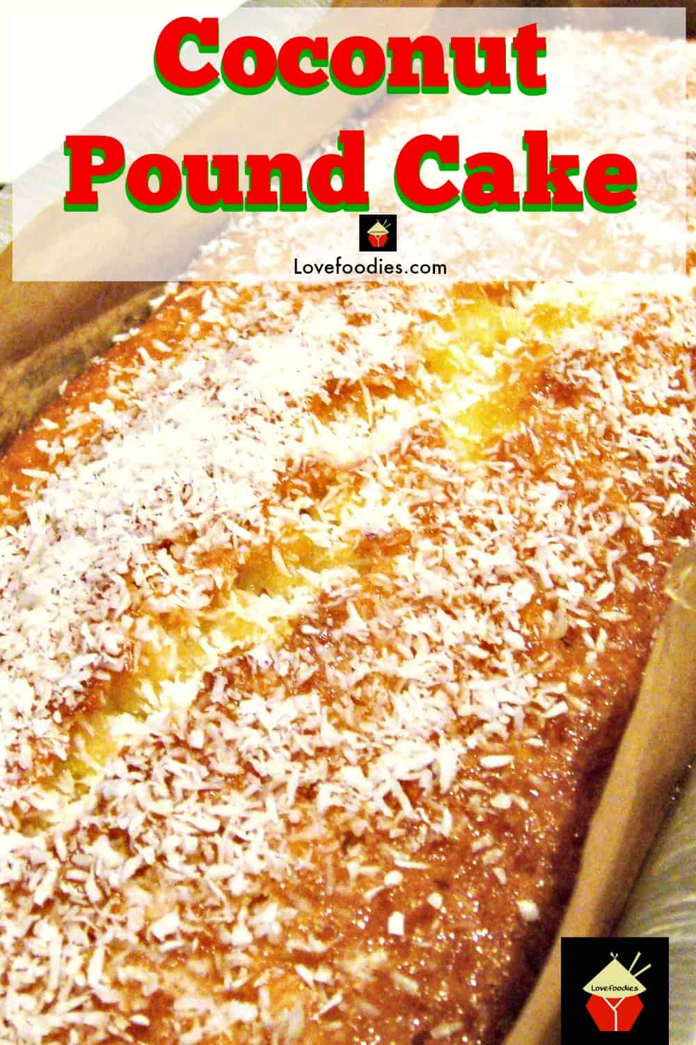 Coconut Pound Loaf Cake. Light, soft, and oh so delicious! Really easy recipe with great results every time