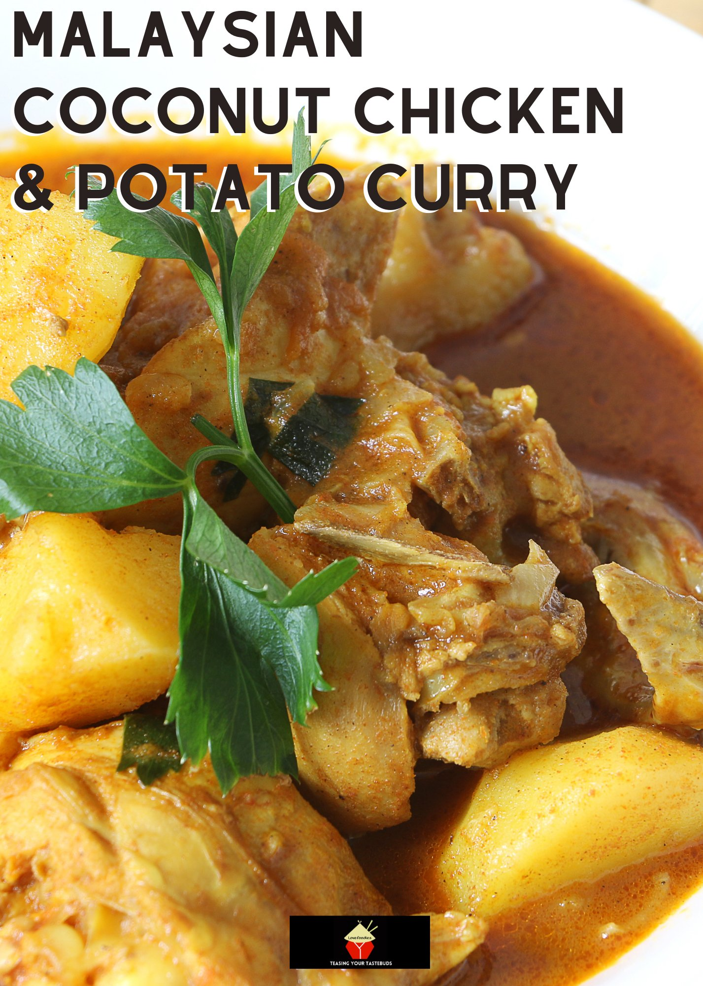 Cheats Malaysian Coconut Chicken and Potato Curry, easy no-fuss dinner, quick recipe and delicious with rice or naan bread. Simple ingredients for a tasty chicken dinner.