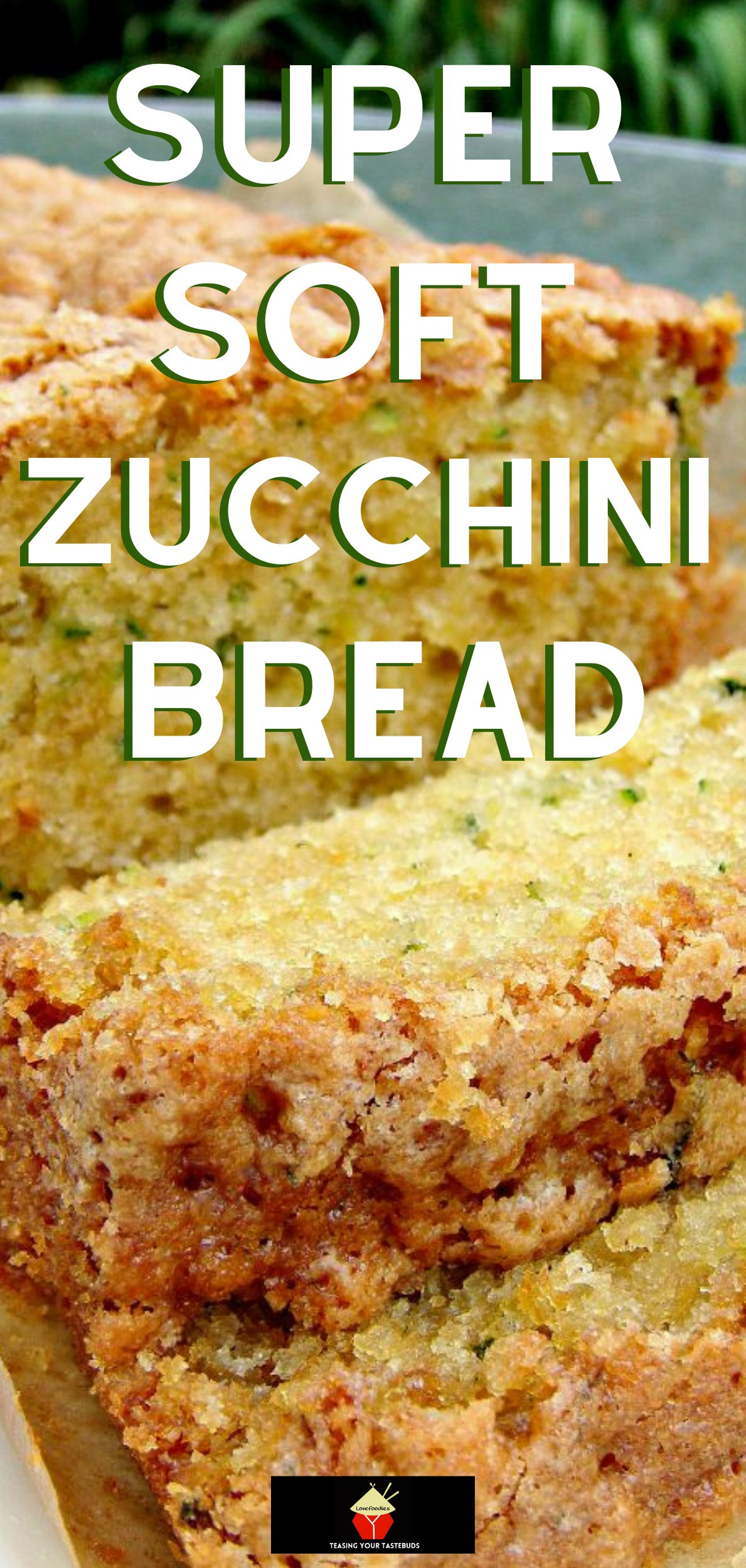 Super Moist Zucchini Bread. A wonderfully soft, no yeast loaf cake perfect with a cup of tea! and a great way to hide vegetables in cake!