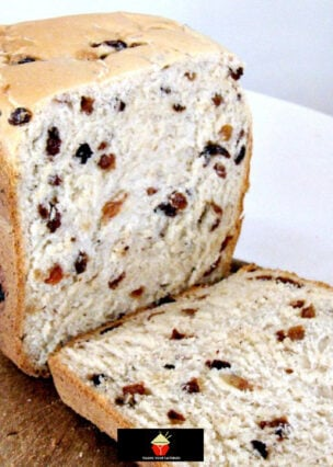 Cinnamon Raisin Bread. A nice easy bread to make, using your bread maker or oven. Delicious toasted and served warm with some butter.