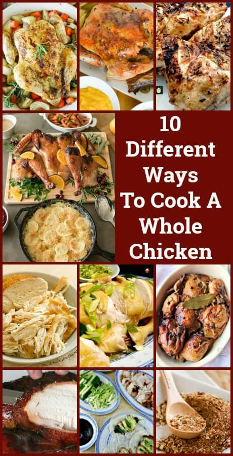10 Different Ways To Cook A Whole Chicken, from roasting, to slow cooking, smoking to brining and poaching. Classic recipes and Asian recipes for you to try!