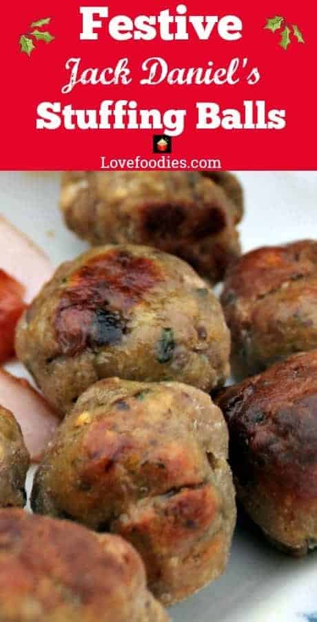 Festive Jack Daniel's Stuffing Balls, a perfect snack, appetizer or side to your Thanksgiving