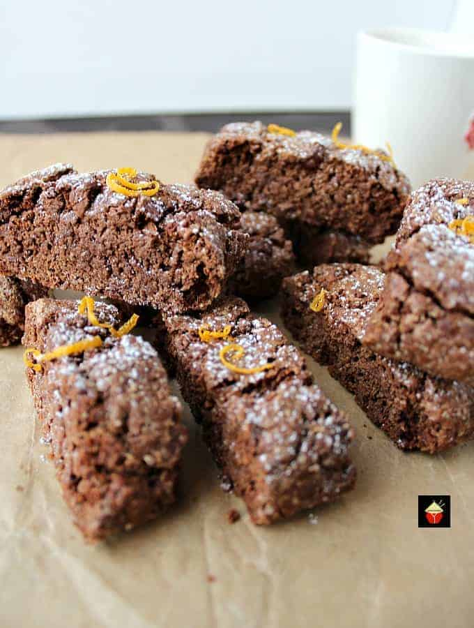 Double Chocolate and Orange Biscotti