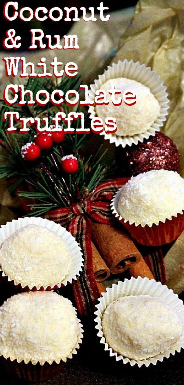 Coconut and Rum White Chocolate TrufflesP1