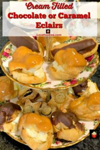Cream Filled Chocolate Eclairs. Easy to make and always great anytime!