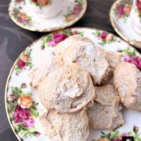 Fluffy Amaretti Style Lemon Almond Cookies. These amaretti-style cookies are as light as a feather and fat-free too!