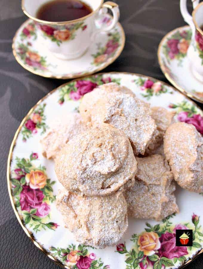 Fluffy Amaretti Style Lemon Almond Cookies