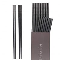 Hiware 10-Pairs Fiberglass Chopsticks - Reusable Chopsticks Dishwasher Safe, 9 1/2 Inches