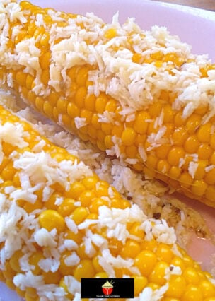 Delicious Coconut Corn, fresh corn simmered in a rich and creamy coconut broth gives a wonderfully sweet, tropical flavor to a perfect side dish.