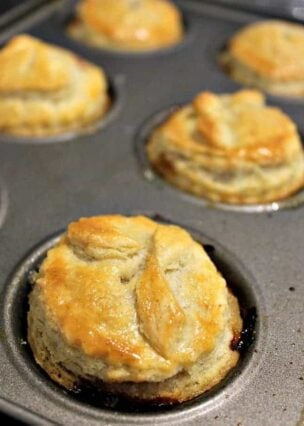 Homemade Mini Meat Pies have a delicious flaky pie crust, are simple and quick to make and great for lunch boxes, parties, picnics and snacks. freezer friendly too!