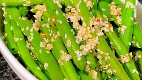 Easy Sesame Garlic Green Beans
