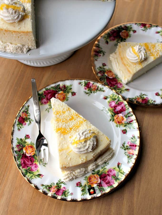 Fluffy Lemon Ricotta Cheesecake