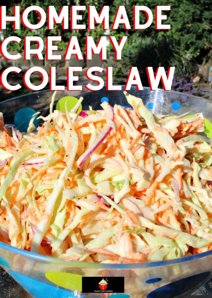 Homemade Creamy ColeslawH