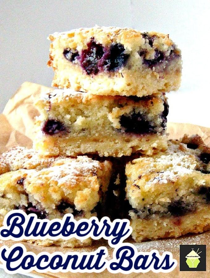 Blueberry Coconut Bars Hero