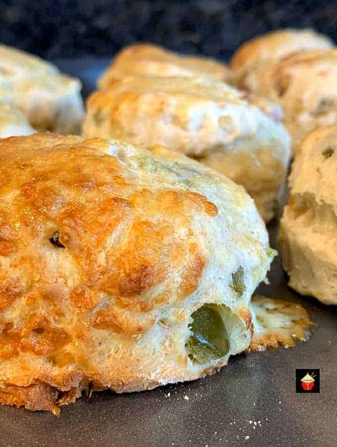 Cheesy Sausage and Jalepeno Scones