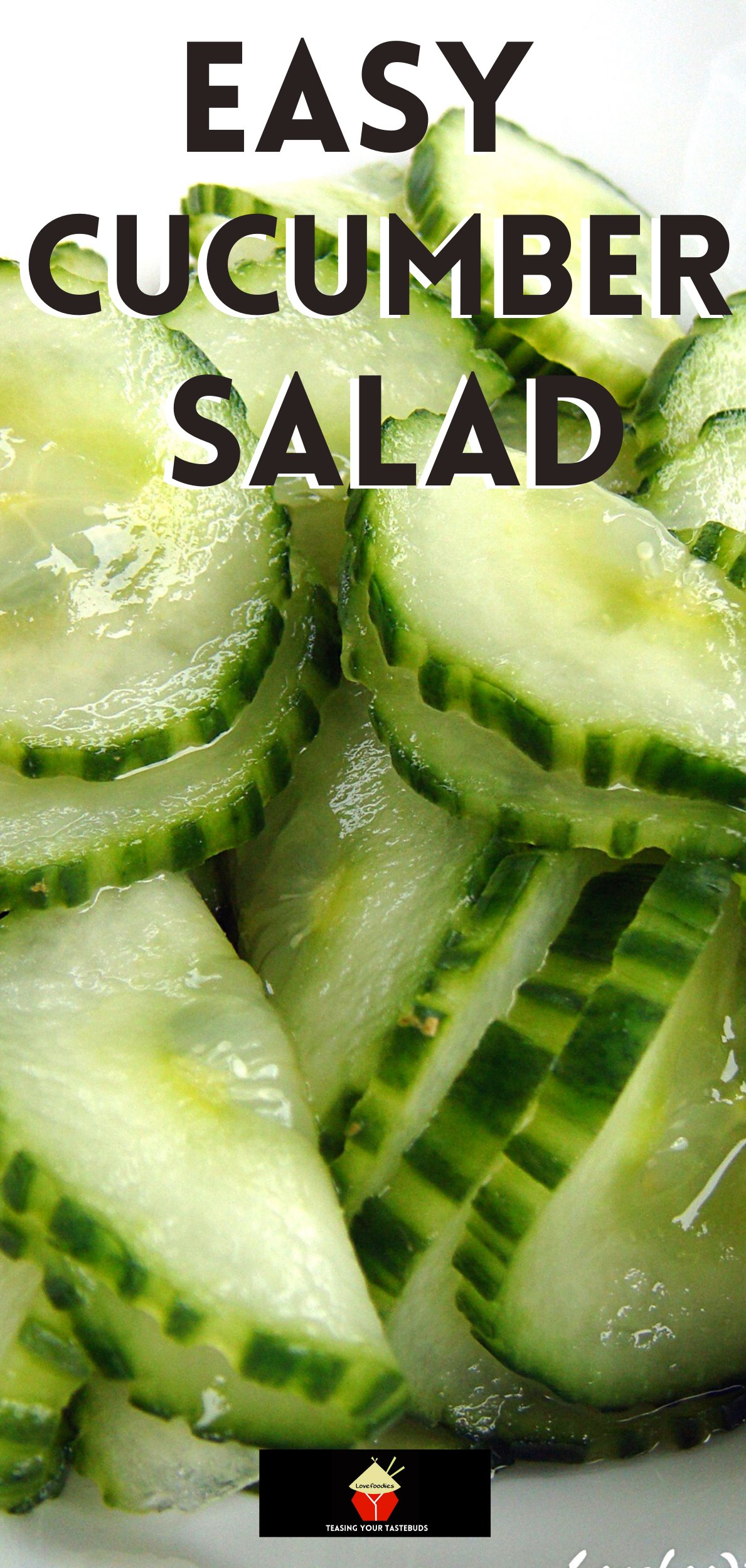 The Best Easy Cucumber Salad. Great Flavors and always a hit! Very refreshing taste and crunch with a sweet and sour pickled juice