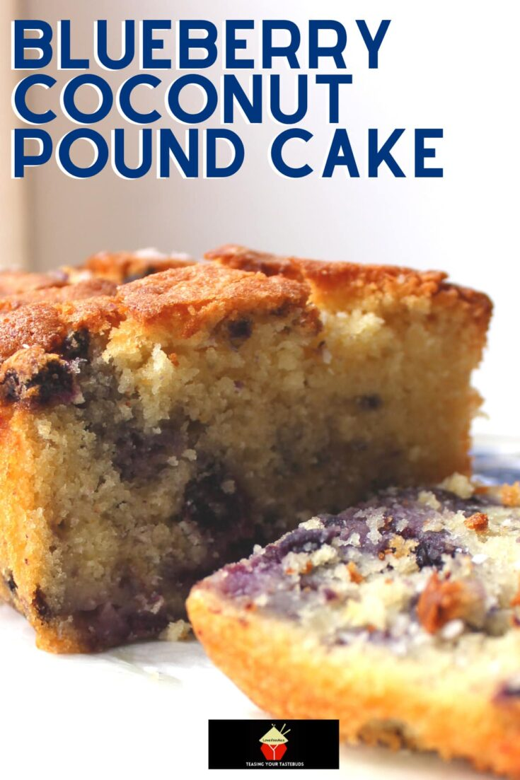 Blueberry Coconut Pound CakeH