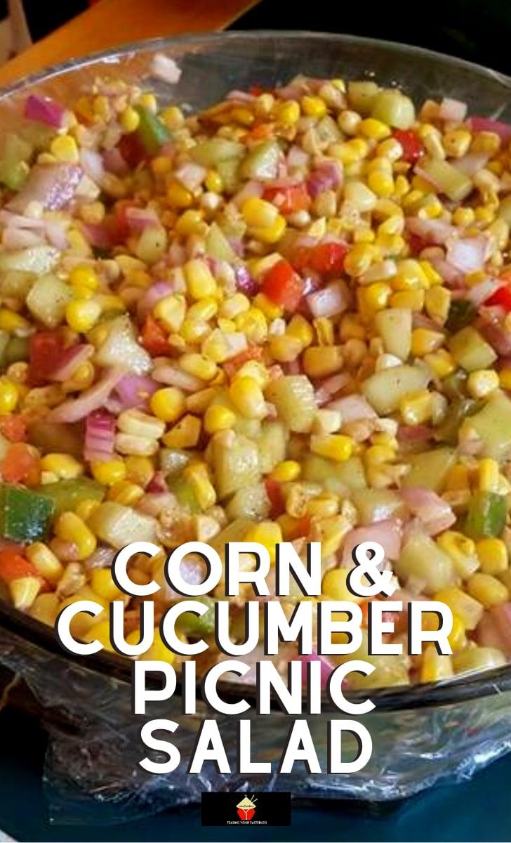 Corn Cucumber Picnic SaladH