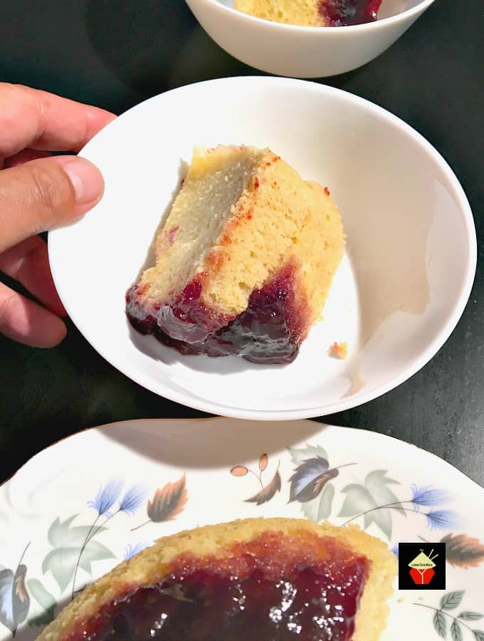 Delicious Steamed Cherry Cake or pudding is a lovely soft and fluffy cake steamed on the stovetop, steamer or multicooker.