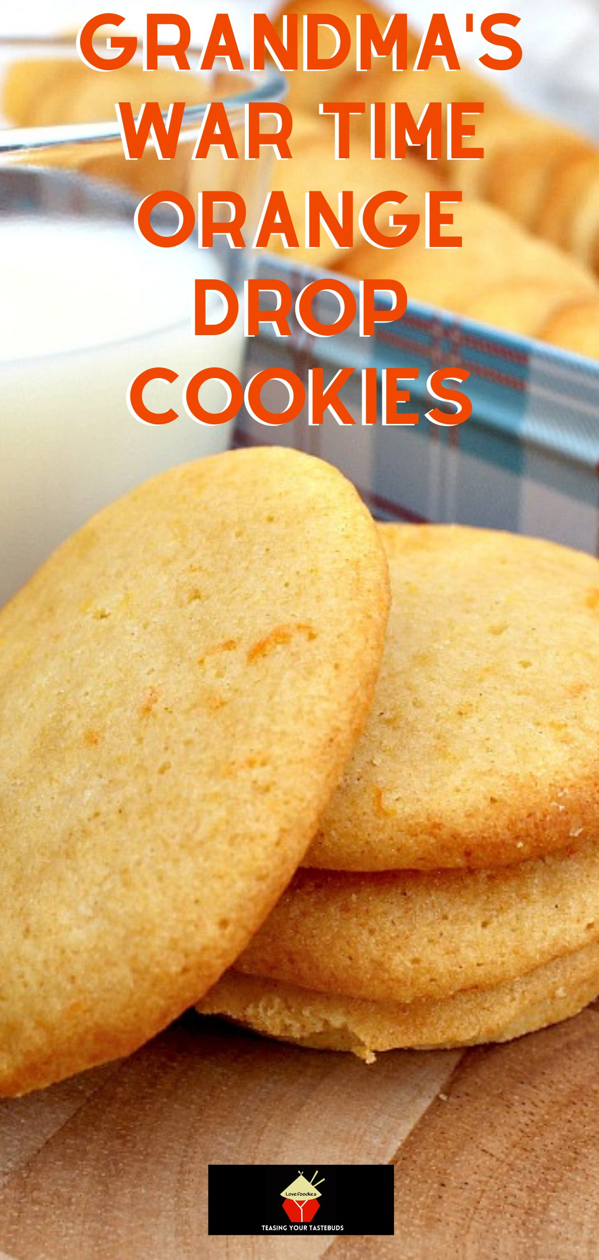 Grandma's War Time Orange Drop Cookies are an old family favorite dating back to the second world war when rationing was in force. Grandma always came up with a great cookie to enjoy!