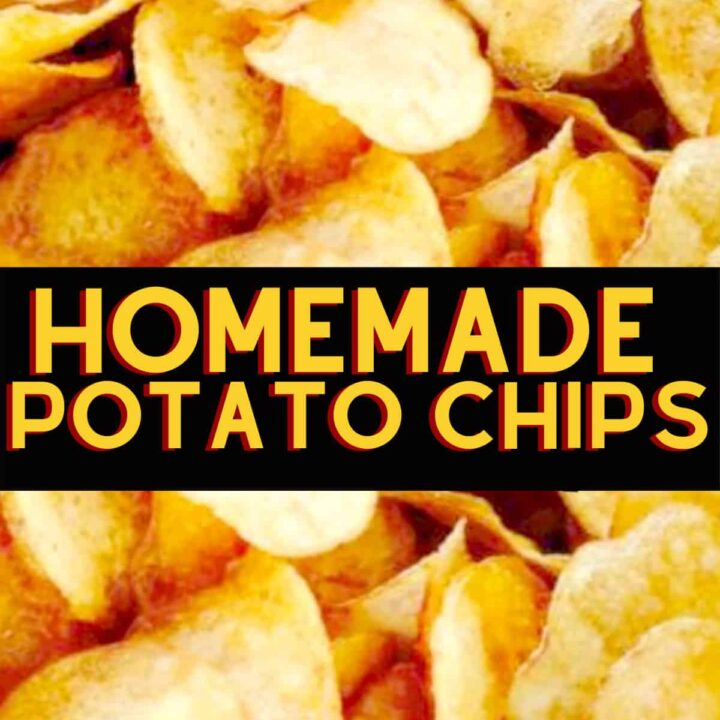 Home Made Potato Chips. Make your own and be as creative as you like with your flavorings! Seasoning suggestions in the recipe for you.