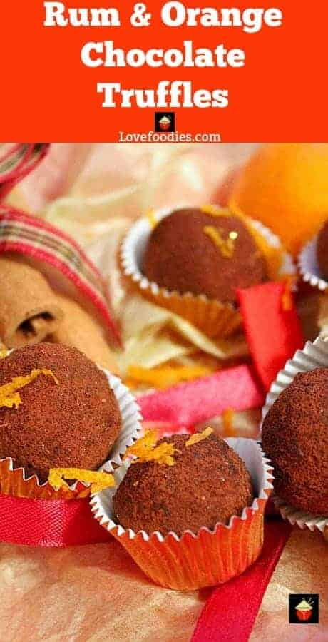 Orange Chocolate Truffles, luxuriously creamy and decadent, these are easy to make and perfect for gifts and parties! Options for the addition of spiced rum too!